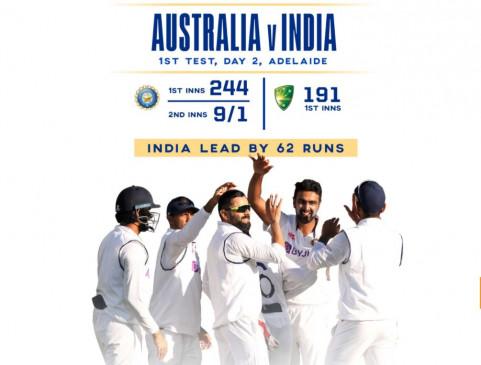 IND vs AUS 1st Test Day 2 Live: दूसरे दिन 15 विकेट गिरे, 191 रन पर सिमटी ऑस्ट्रेलियाई पारी, भारत को 62 रन की बढ़त