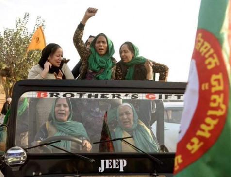 किसान आंदोलन का 28वां दिनः जीप चलाकर पटियाला से दिल्ली पहुंची महिलाओं की टोली