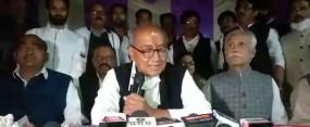 एमएसपी पर हाथ में गंगाजल लेकर झूठ बोले मोदी - पूर्व मुख्यमंत्री दिग्विजय का आरोप