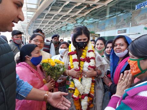 मध्य प्रदेश के तीन दिवसीय दौरे पर पंकजा मुंडे, राजधानी भोपाल में हुआ भव्य स्वागत