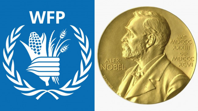 Nobel prize: संयुक्त राष्ट्र की ओर से डेविड बीसले ने लिया नोबल शांति पुरस्कार