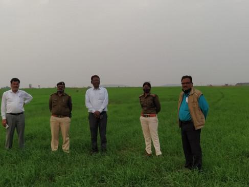 38 एकड़ सरकारी जमीन पर दबंग कर रहे थे गेहूं की खेती, प्रशासन ने मुक्त कराई जमीन