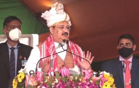 असम में रैली को संबोधित करते हुए बोले जेपी नड्डा, कहा- मोदी सरकार ने किया असम का विकास