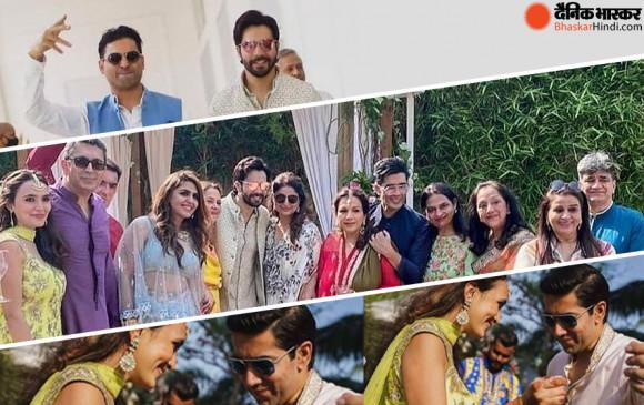 Wedding : वरुण-नताशा की शादी में 'टीम लड़के वाले' की कुछ अनदेखी तस्वीरें