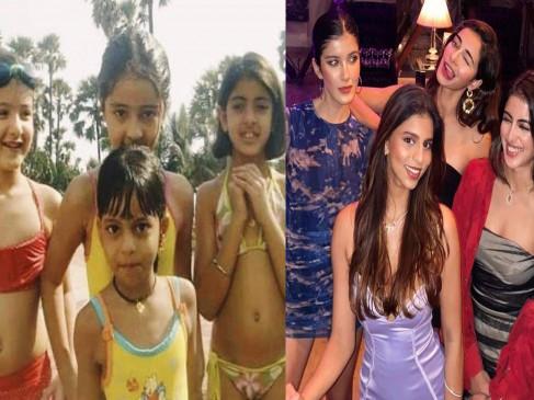 अनन्या पांडे ने शेयर की थ्रोबैक पिक्चर,शाहरुख, संजय और श्वेता बच्चन की बेटी साथ आई नजर