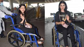 PHOTOS: व्हीलचेयर पर नजर आई प्राची देसाई, बॉलीवुड में कुछ खास नहीं कर पाने के बाद अब वेबसीरीज में आजमा रही हैं किस्मत