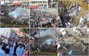 भोपालः राजभवन का घेराव, पुलिस-कांग्रेस में तनाव, वाटर कैनन का इस्तेमाल किया- देखें तस्वीरें