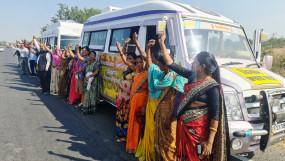 किसान आंदोलन को समर्थन देनेकिसान विधवाएं हुईं दिल्ली रवाना