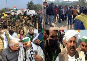 सिंघु बॉर्डर पर किसानों के साथ स्थानीय लोगों की झड़प, पुलिस ने आंसू गैस के गोले दागे