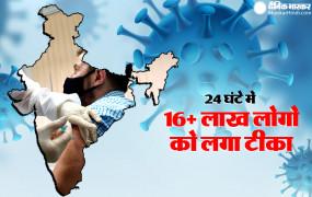 Coronavirus in India: देश में 24 घंटे के भीतर 16 लाख से ज्यादा लोगों को लगा कोरोना टीका, 13 हजार नए मरीज मिले