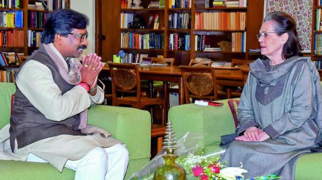 झारखंड: सोनिया-राहुल से मिले CM सोरेन, मंत्रिमंडल विस्तार समेत कई मुद्दों पर हुई चर्चा