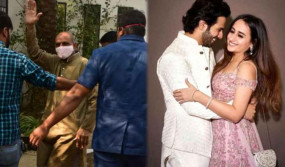 Varun-Natasha Wedding:अलीबाग पहुंचे शादी समारोह के लिए पंडित, कैमरे की तरफ देख हाथ जोड़कर किया नमस्ते