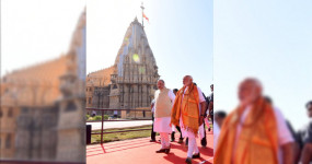 गुजरात : सोमनाथ मंदिर ट्रस्ट के अध्यक्ष बने पीएम मोदी, गृहमंत्री ने शेयर कीं फोटो