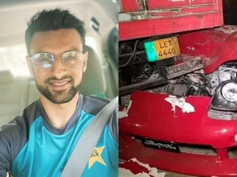 Accident: पाकिस्तानी क्रिकेटर शोएब मलिक की कार दुर्घटनाग्रस्त, सड़क किनारे खड़े ट्रक में जा घुसी