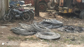 42 हजार की तार के साथ पकड़े गए तीन बदमाश -हाईटेंशन -लाइन से काटा था वायर