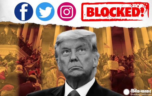 US Capitol Hill violence: फेसबुक, इंस्टाग्राम और Twitter ने ट्रंप के अकाउंट ब्लॉक किए, परमानेंट बंद करने की दी चेतावनी