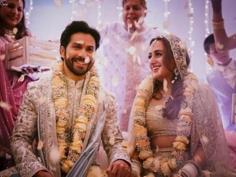 Wedding: शादी के बंधन में बंधे वरुण और नताशा, सोशल मीडिया पर लिखा-जीवन भर का प्यार अब ऑफिशियल हो गया