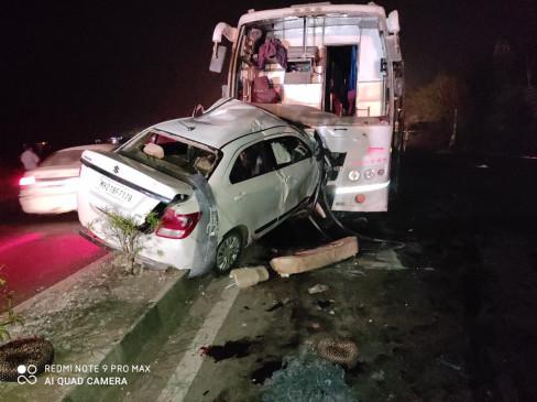औरंगाबाद -अहमदनगर रोड पर भीषण हादसा, 5 युवकों की मौत