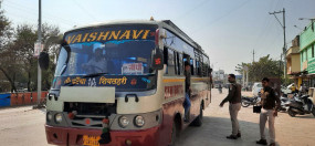 75 वाहनों की जाँच, 23 में मिली मनमानी बसों में क्षमता से अिधक सवार मिले यात्री