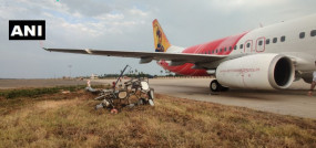 आंध्र प्रदेश: विजयवाड़ा में लैंडिंग के दौरान बिजली के पोल से टकराया एयर इंडिया का विमान, सभी 64 यात्री सुरक्षित