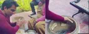 Video: सोनू दा ढाबा, एक्टर ने अपने हाथो से बनाई तंदूरी रोटी
