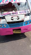तेज रफ्तार बस ने महिला को कुचला, मौत - गुस्साए ग्रामीणों किया पथराव