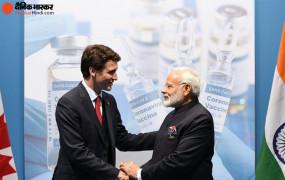 PM जस्टिन ट्रूडो ने कोरोना वैक्सीन को लेकर भारत से मांगी मदद, प्रधानमंत्री मोदी बोले- हम साथ हैं