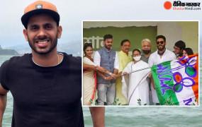 क्रिकेटर मनोज तिवारी का पॉलिटिकल डेब्यू, ममता बनर्जी की रैली के दौरान टीएमसी में शामिल हुए