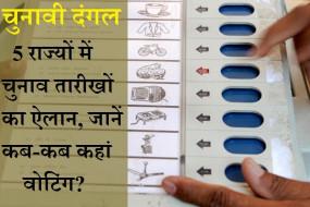 5 राज्यों का चुनावी कैलेंडर: 27 मई से वोटिंग की शुरुआत, 2.7 लाख केंद्रों पर 18.68 करोड़ लोग करेंगे मतदान,सभी राज्यों के नतीजे 2 मई को