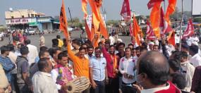 किसान आंदोलन : विदर्भ में जगह-जगह रास्ता रोको, नाशिक के चांदोरी चौफुली पर चक्का जाम