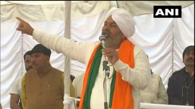 किसान आंदोलन: टिकैत ने फिर सराकर को चेताया, बोले- कृषि कानूनों की वापसी के बाद ही होगी, किसानों की घर वापसी