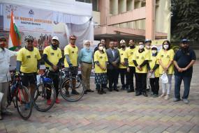 आईएमए ने कोविड वैक्सीन और कैंसर जागरुकता रैली निकाली