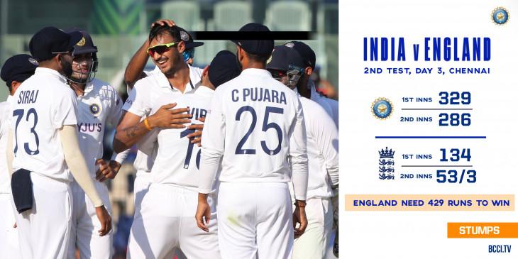 India vs England 2nd Test: जीत से सिर्फ 7 विकेट दूर टीम इंडिया, इंग्लैंड को जीत के लिए 429 रन का टारगेट