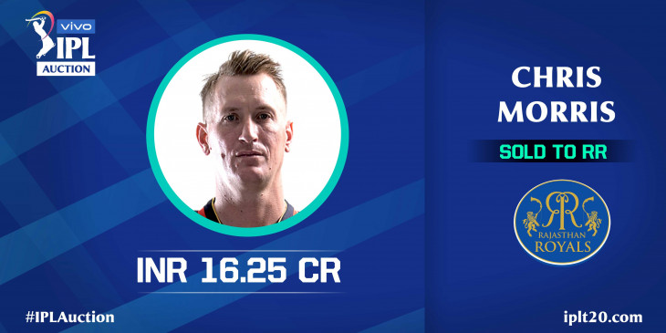 IPL Auction 2021: आईपीएल के इतिहास में सबसे महंगे बिके क्रिस मॉरिस, 16 करोड़ 25 लाख में राजस्थान ने खरीदा