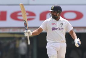 चेन्नई टेस्ट : पहले दिन टीम इंडिया का स्कोर 6/300 रन, रोहित का शतक, रहाणे का अर्धशतक