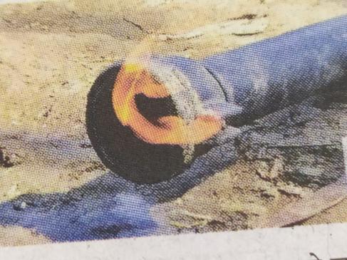 दमोह में मिला मीथेन का भंडार.. बोर से पानी की जगह निकल रही आग