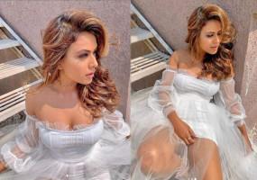 ऑफ शोल्डर ड्रेस में निया शर्मा ने दिखाए दिन में तारे, देखें तस्वीरें