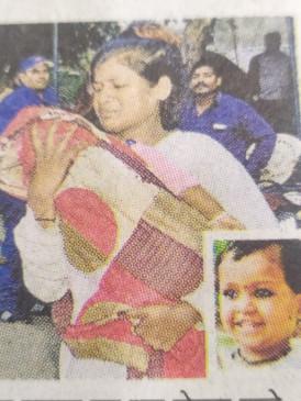 काला जादू के संदेह में पड़ोसन ने किया दो साल की मासूम का कत्ल - जबलपुर के कंचनपुर में वारदात