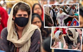 मृतक किसान के परिवार से मिली थी प्रियंका गांधी, तिरंगे का अपमान बता पत्नी- भाई पर उप्र पुलिस ने किया मामला दर्ज