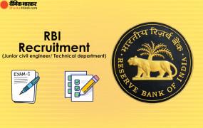 RBI RECRUITMENT 2021:इन सरकारी पदों पर निकली भर्ती, 15 फरवरी तक कर सकते हैं आवेदन