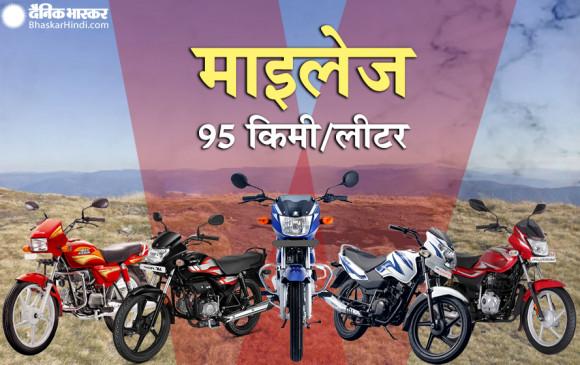 1 लीटर पेट्रोल में 95 KM तक का माइलेज देती हैं ये बाइक्स, कीमत 44 हजार रुपए से शुरू