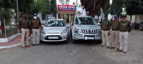 जबलपुर हाइवे पर कार की नम्बर प्लेट बदल रहे थे चोर, पुलिस ने किया गिरफ्तार