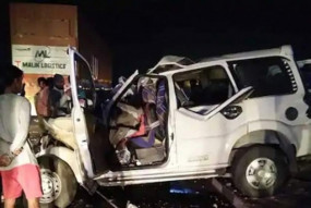 ट्रक में घुसी स्कार्पियो गाड़ी, सड़क हादसे में 9 लोगों की मौत
