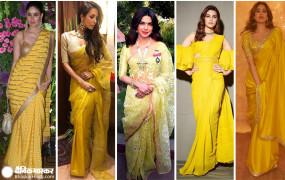 INDIAN LOOK: 5 एक्ट्रेसेस, जिन्होंने yellow saree में बिखेरा जलवा