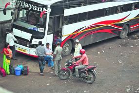 नागपुर एमपी बस स्टैंड से बसें हो रही रवाना,गारंटी के साथ ले जा रहे यात्री