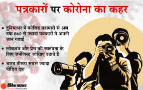 Bhaskar Special: Corona महामारी से 860 से ज्यादा पत्रकार अपनी जान गवां चुके, भारत चौथे नंबर पर