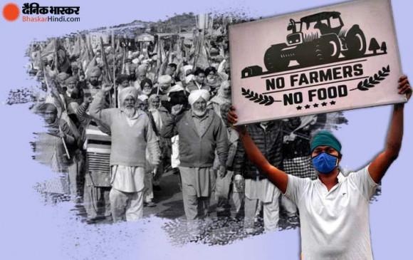 किसान आंदोलन का 100वां :  हल पर काली पट्टी बांध काला दिवस मना रहे हैं अन्नदाता