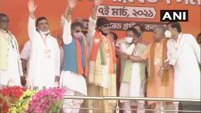 भाजपा में शामिल हुए मिथुन, कोलकाता में बोले- गर्व से कहता हूं कि मैं बंगाली हूं