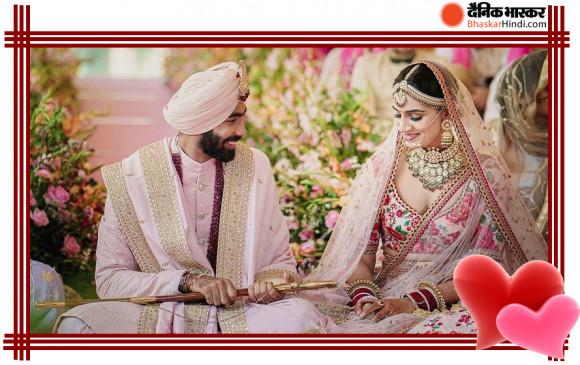 CONGRATS! जसप्रीत बुमराह ने संजना गणेशन के साथ गोवा में रचाई शादी, देखें पहली तस्वीर