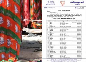 निकाय चुनाव के लिए भाजपा ने तय किए प्रभारी, जबलपुर से आशोक रोहाणी जिला प्रभारी होंगे, देखें पूरी लिस्ट